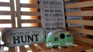 Green & White Toy Camper