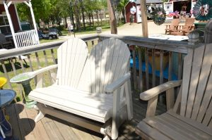 Off-White Maintenance Free Patio Bench