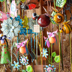 Colorful Metal Garden Stakes