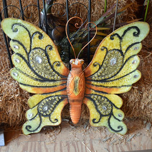 Metal Butterfly Sign