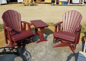 Red Maintenance Free Patio Furniture