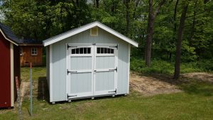 Medium White Shed for Sale at Pepin Country Stop