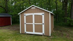 Brown & White Shed for Sale