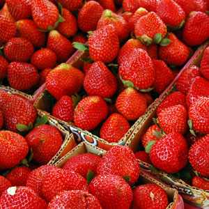 Strawberries for Sale at Pepin Country Stop