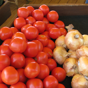 Tomatoes & Onions at Pepin Country Stop